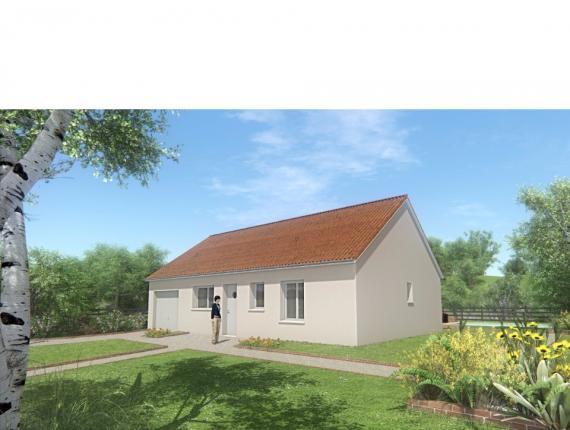 Modèle de maison MAISON DE PLAIN PIED - 66 M 2 - CREUSE - ACACIA 4 : Photo 1