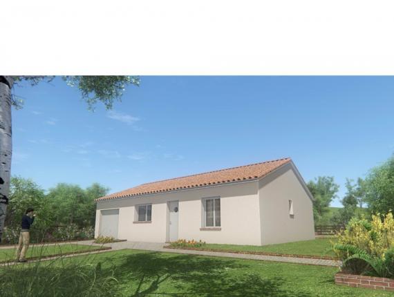 Modèle de maison MAISON DE PLAIN PIED - 66 M 2 - HAUTE-VIENNE - ACA : Photo 1