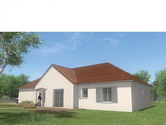 Modèle de maison MAISON DE PLAIN PIED - 96 M 2 -CREUSE - STAR 5 DG : Photo 1