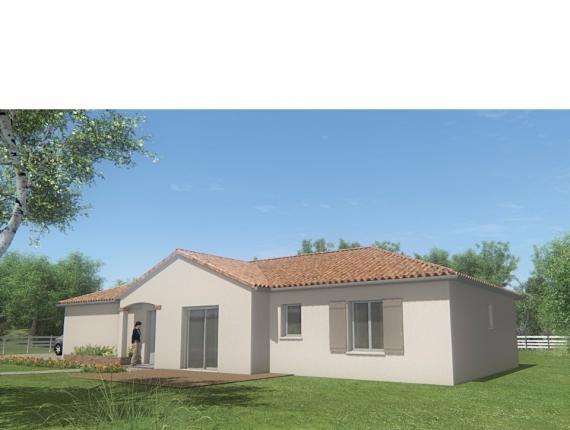 Modèle de maison MAISON PLAIN PIED - 96 M 2 - HAUTE- VIENNE - STAR : Photo 1