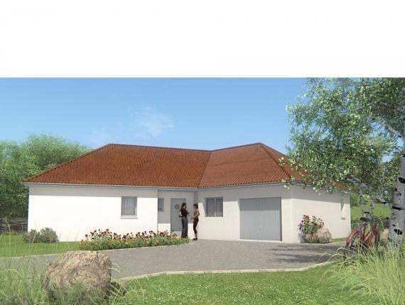 Modèle de maison MAISON DE PLAIN PIED - 100 M 2 - CREUSE - VEGA 5 S : Photo 1