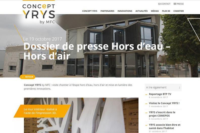 Dossier de presse YRYS Hors d'eau - Hors d'air