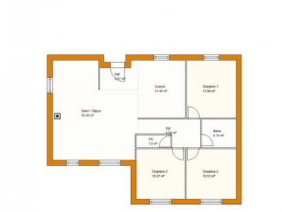 Plan de maison St Martin Contemporaine  : Photo 1
