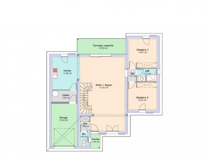Plan de maison Eden 3 chambres  : Photo 1
