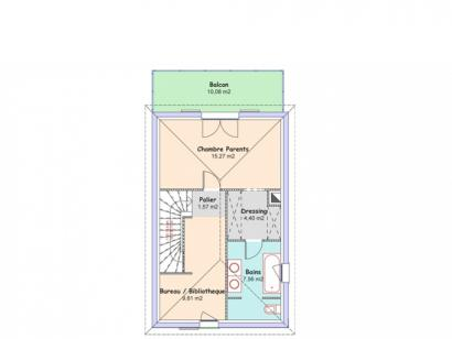 Plan de maison Eden 3 chambres  : Photo 4