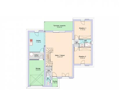 Plan de maison Eden 3 chambres  : Photo 2