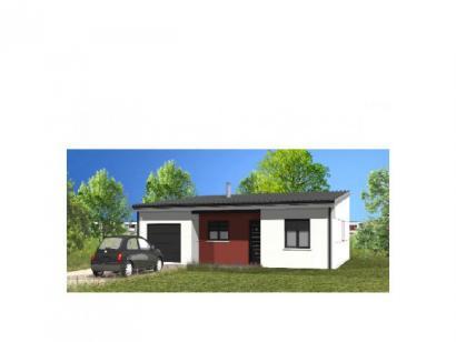 Modèle de maison Avant-Projet GROSBREUIL - 72 m² - 2 chambres 2 chambres  : Photo 1