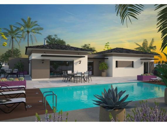 Plan de maison la villa 120 el gance maisons balency for Modele villa basse moderne