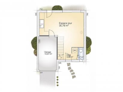 Plan de maison Jade G 83 Tradition  : Photo 1