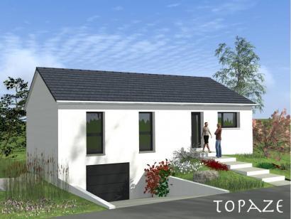 plan maison sous sol 110 m maison 4 chambres avec garage. Black Bedroom Furniture Sets. Home Design Ideas