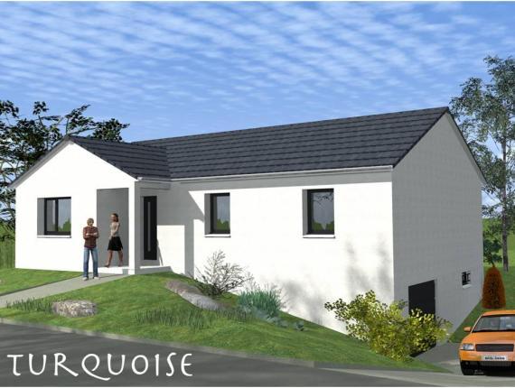Mod le de maison turquoise sous sol contemporain maisons for Modele maison avec sous sol complet