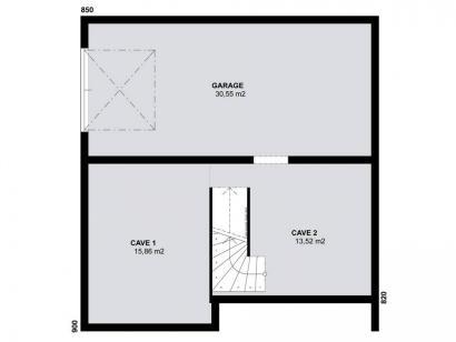plan maison horizon