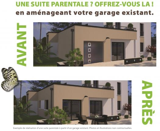 La suite parentale du r ve la r alit sur r novert for Amenager son garage en suite parentale