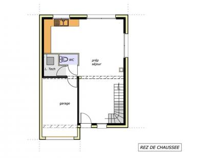Plan de maison Avant projet AUBIGNY - 100M² - 4 chambres 4 chambres  : Photo 1