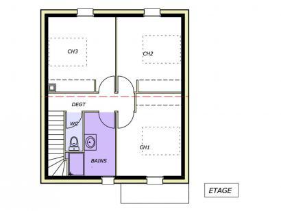 Plan de maison Avant-Projet CHAILLÉ LES MARAIS - 90 m² - 3 chambr 3 chambres  : Photo 1