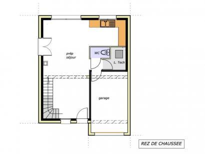Plan de maison Avant-Projet CHAILLÉ LES MARAIS - 90 m² - 3 chambr 3 chambres  : Photo 2