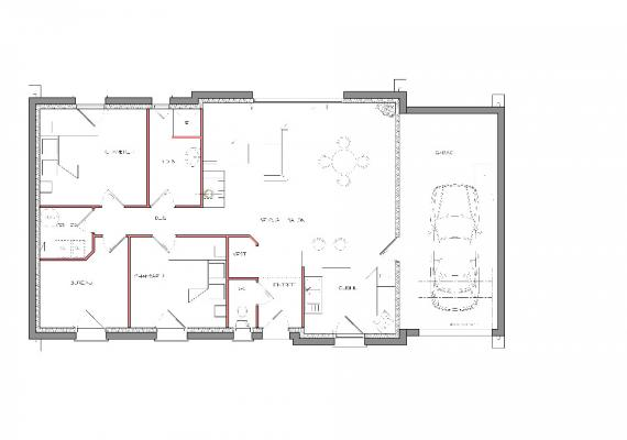 beautiful pin maison u plan de maison en u plain pied plan maison en u plain with plan de maison en u