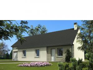 Maison avec garage et 3 chambres au rez-de-chaussé