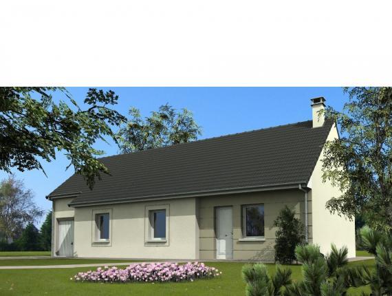 Modèle de maison Maison avec garage et 3 chambres au rez-de-chaussé : Photo 1