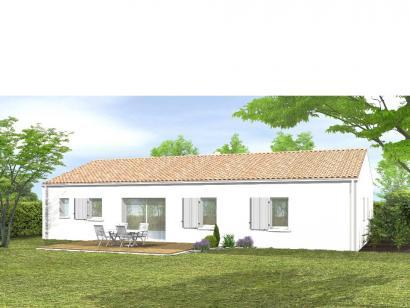 Modèle de maison Avant-projet ST JULIEN DES LANDES - 80 m² - 3 cham 4 chambres  : Photo 2
