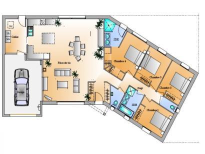 Plan de maison Avant-projet Château DOlonne 4 chambres 4 chambres  : Photo 1