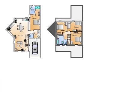 Plan de maison Avant projet St Hilaire de Loulay - 4 chambres - 1 4 chambres  : Photo 1