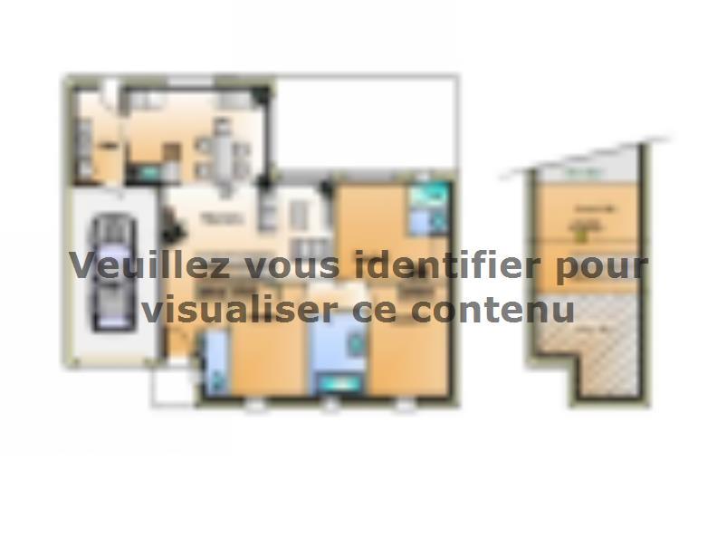 Plan de maison Avant projet Coex - 3 chambre + 1 bureau - 96m² : Vignette 1
