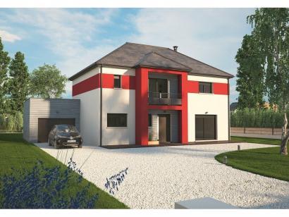 Modèle de maison Contemporaine 160 - 4 chambres - Maisons Balency