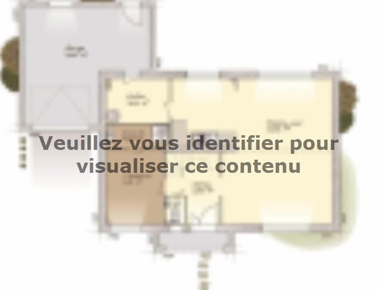 Plan de maison Contemporaine 160 : Vignette 1