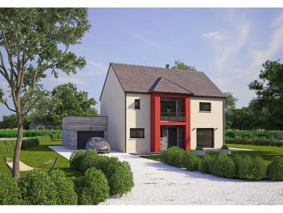Modèle de maison Contemporaine 186 4 chambres  : Photo 1
