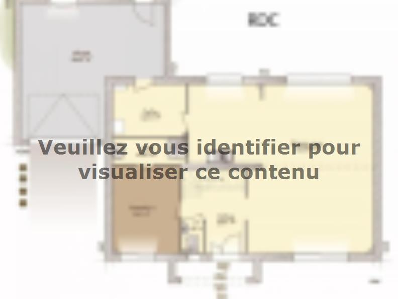 Plan de maison Contemporaine 186 : Vignette 1