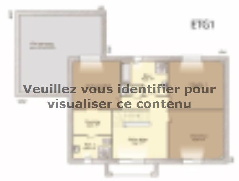 Plan de maison Contemporaine 186 : Vignette 2