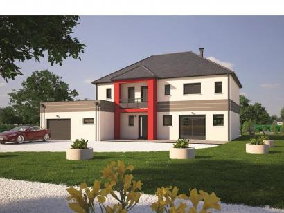 Modèle de maison Contemporaine 200 5 chambres  : Photo 1
