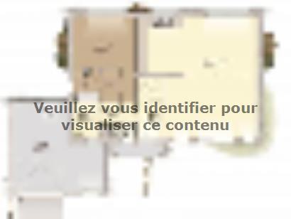 Plan de maison Contemporaine 200 5 chambres  : Photo 1
