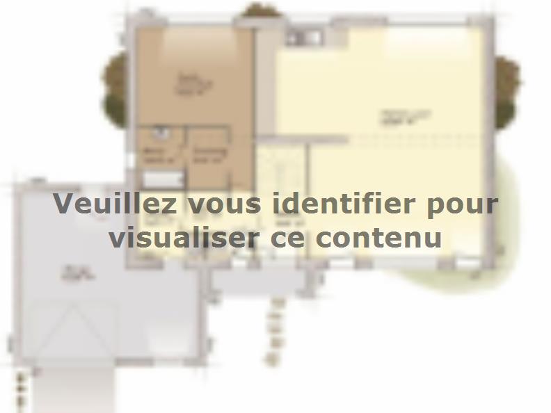 Plan de maison Contemporaine 200 : Vignette 1