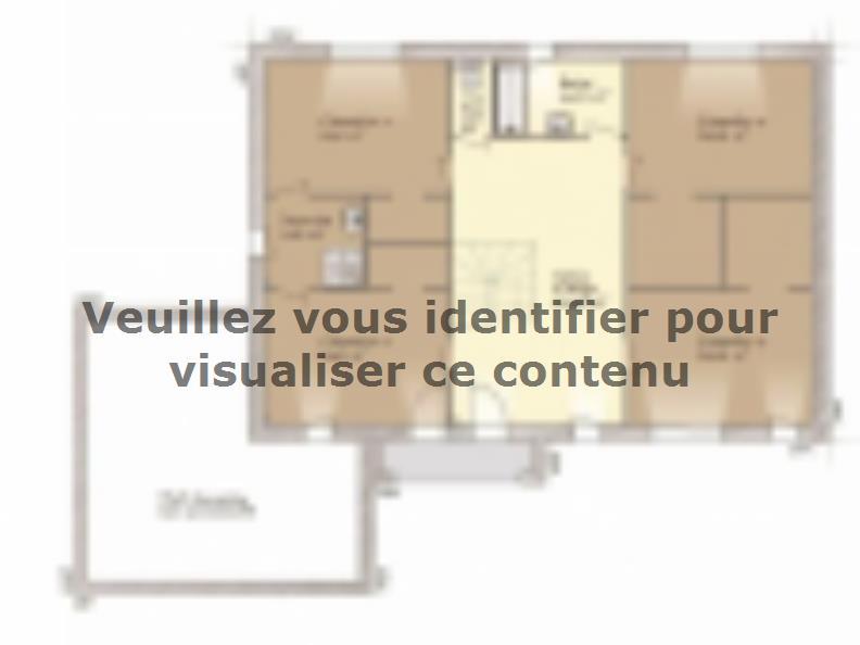 Plan de maison Contemporaine 200 : Vignette 2