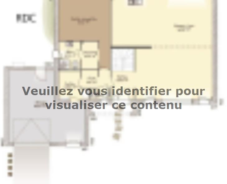 Plan de maison Contemporaine 242 : Vignette 1