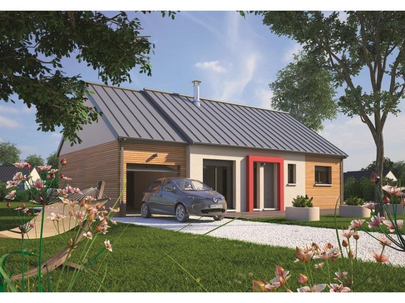 Modèle de maison Plain-pied 70 : Vignette 1