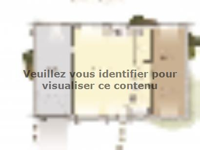 Plan de maison Plain-pied 70 2 chambres  : Photo 1