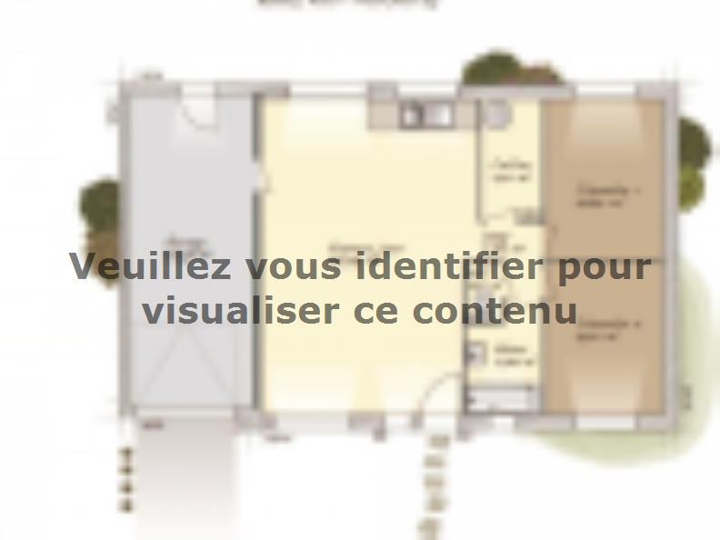 Plan de maison Plain-pied 70 : Vignette 1