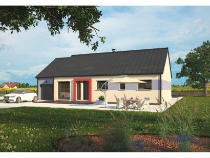 Mod le de maison plain pied 100l 3 chambres maisons for Modele de maison a construire plain pied