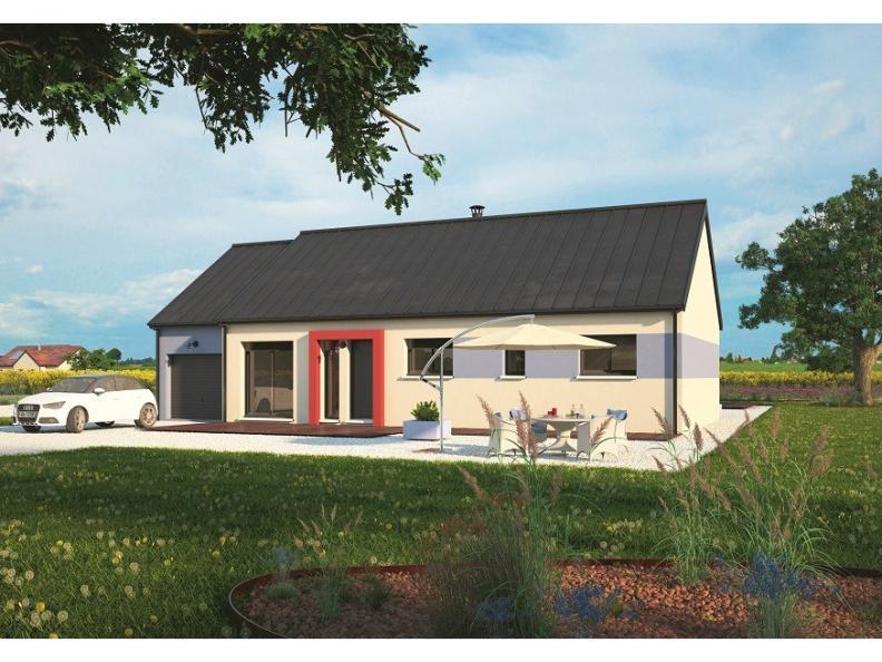Modèle de maison Plain-pied 100L : Vignette 1