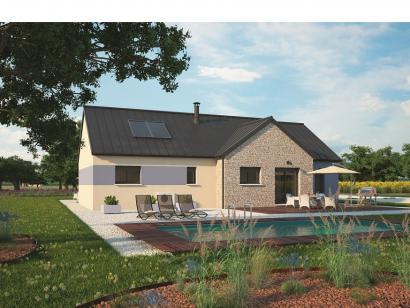 Modèle de maison Plain-pied 100L 3 chambres  : Photo 2