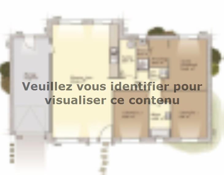 Plan de maison Plain-pied 100L : Vignette 1