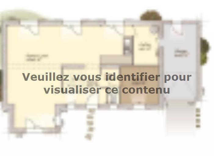 Plan de maison Tradition 133L : Vignette 1