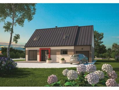 Modèle de maison Aménagé 100 4 chambres  : Photo 1