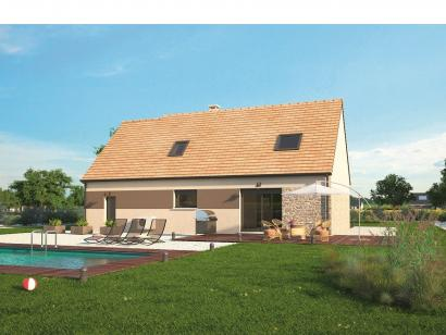 Modèle de maison Aménagé 117 4 chambres  : Photo 2