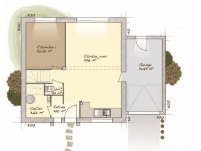 Plan de maison Urbaine GA 8 4 chambres  : Photo 1