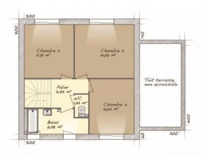 Plan de maison Urbaine GA 8 4 chambres  : Photo 2