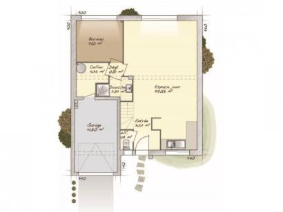 Plan de maison Urbaine GI 9 CA 4 chambres  : Photo 1